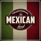 Traditional Mexican Food grunge Banner Royalty Free Stock Images
