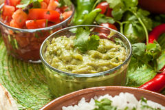 Traditional Mexican Guacamole Royalty Free Stock Image