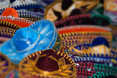 Traditional mexican hats Stock Photo