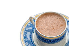 Traditional mexican hot chocolate cup isolated Stock Images