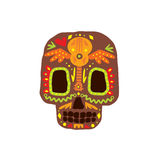 Traditional Mexican Painted Scull Icon Stock Photo