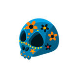 Traditional Mexican Painted Skull vector illustration