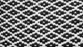 Traditional mexican pattern blanket texture background. A traditional pattern of one blanket in black and white colors, hand crafted tissue texture background Royalty Free Stock Images