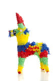 A traditional Mexican Pinata on White. A traditional, primary colored Mexican party pinata on a white background Royalty Free Stock Images