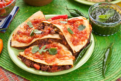 Traditional Mexican Quesadillas royalty free stock photos