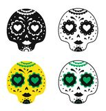 Traditional Mexican skull designs. Vector illustration. Traditional Mexican skull designs. Vector illustration Stock Images