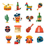 Traditional Mexican Symbols Collection Stock Photos