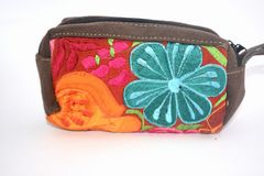 Traditional mexican textile handbag made by hand in Chiapas state Royalty Free Stock Photos