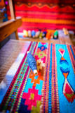 Traditional mexican weaving on a loom Stock Image