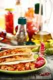Traditional Mexican wheat tortillas. Royalty Free Stock Photography