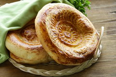 Traditional Middle Asian bread Stock Images