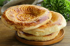 Traditional Middle Asian bread Royalty Free Stock Images