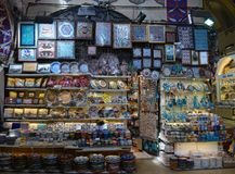 A Traditional middle east souvenir shop Royalty Free Stock Photography