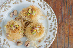 Traditional Middle Eastern dessert baklava. With pistachio nuts Stock Photos