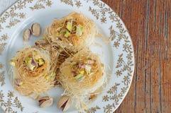 Traditional Middle Eastern dessert baklava Stock Photos
