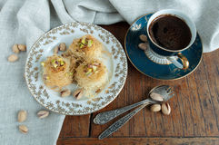 Traditional Middle Eastern dessert baklava Stock Photography
