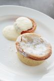 Traditional mince pie dessert Royalty Free Stock Photos