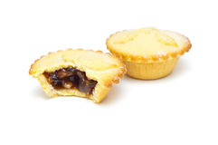 Traditional mince pies on a white background Stock Image