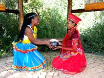 Traditional Models. Tsonga and Zulu Model in traditional attires Stock Images