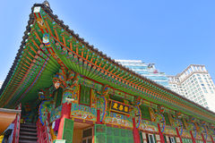 Traditional and Modern Architecture, South Korea Royalty Free Stock Photo