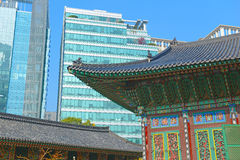 Traditional and Modern Architecture, South Korea Stock Images