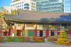 Traditional and Modern Architecture, South Korea Royalty Free Stock Images