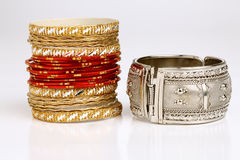 Traditional & modern Indian bangles Stock Photo
