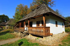 Traditional moldavian village house Stock Photos