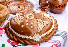 Traditional Moldovan loaf. Stock Photos