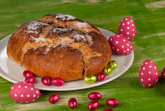 Traditional mona de pascua with eggs royalty free stock photo