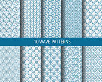 Traditional monachrome wave patterns Royalty Free Stock Photo