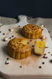 Traditional moon cakes. To celebrate mid autumn festival Royalty Free Stock Images
