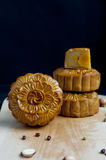 Traditional moon cakes. To celebrate mid autumn festival Royalty Free Stock Image