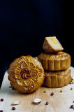 Traditional moon cakes. To celebrate mid autumn festival Stock Photography