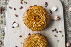 Traditional moon cakes Stock Photography