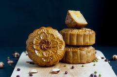 Traditional moon cakes Royalty Free Stock Photo