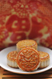 Traditional mooncake Stock Photos