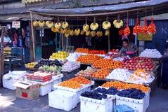Traditional morning Myanmar market. Royalty Free Stock Image