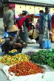 Traditional morning Myanmar market. Royalty Free Stock Photos