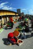 Traditional morning Myanmar market. Stock Photo