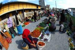 Traditional morning Myanmar market. Royalty Free Stock Photo