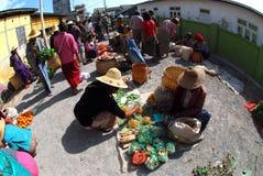 Traditional morning Myanmar market. Stock Image