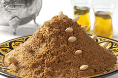 Traditional Moroccan almond sellou Royalty Free Stock Images