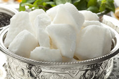 Traditional Moroccan bowl with sugar stock photo