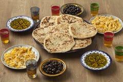 Traditional Moroccan  breakfast Stock Image