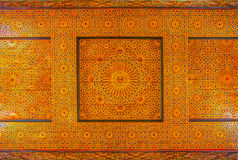 Traditional Moroccan carved ceiling Royalty Free Stock Photo