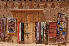 Traditional moroccan carpets Royalty Free Stock Image