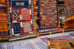 Traditional moroccan carpets Stock Image