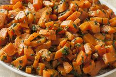 Traditional Moroccan carrot salad Stock Photos