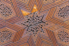 Traditional Moroccan carved wood panel Royalty Free Stock Photography